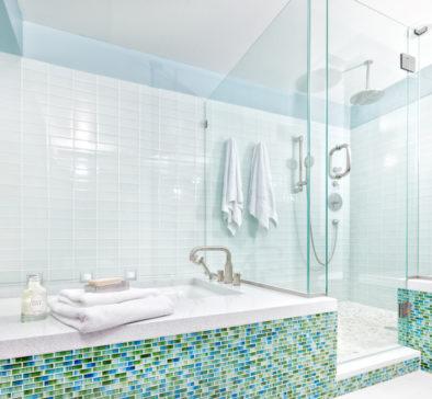carrelage dans un salle de bain